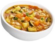 Una ciotola di zuppa di verdure