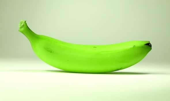 Banana verde brillante