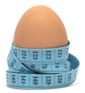 Uovo e metro a nastro