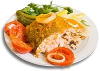 Farina di pesce su un piatto