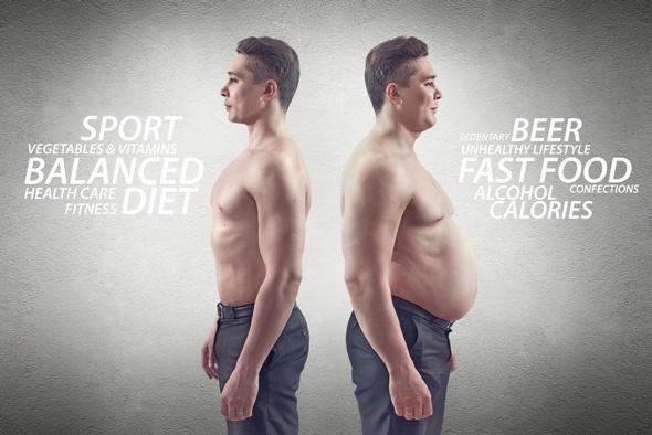 Fit vs. Fat Man con testo