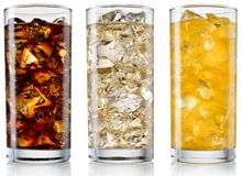 Bicchieri Con Soda E Cubetti Di Ghiaccio