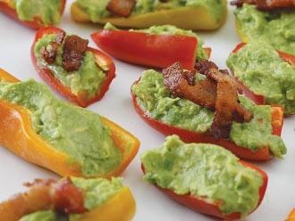 Guacamole Bacon Stuffed Pepper Poppers