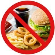 Nessun cibo spazzatura consentito