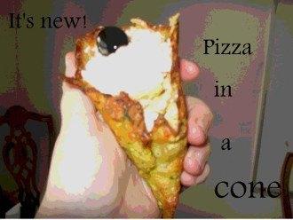 Pizza in un cono