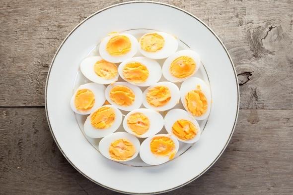 Piatto di uova sode