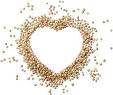 Quinoa a forma di cuore