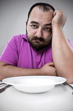 Uomo triste dieta