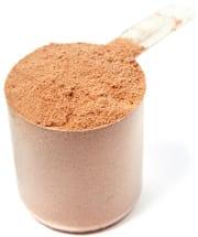 Scoop di proteine in polvere