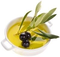 Piccola Ciotola Con Olive E Olio D'oliva