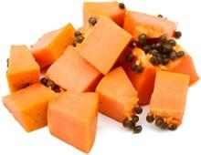 Piccoli pezzi di papaia