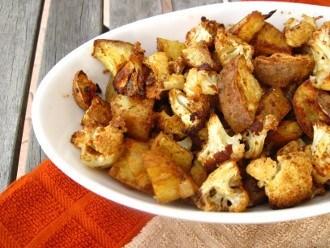 Cavolfiore al forno piccante e patate dolci