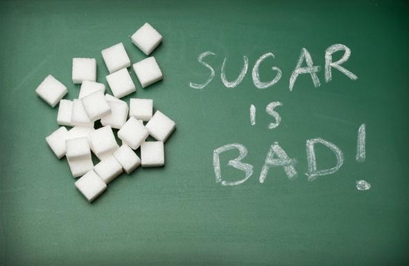 Lo zucchero è scritto male su una lavagna