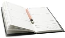 Agenda settimanale e matita
