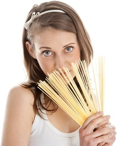 Spaghetti Della Holding Della Donna